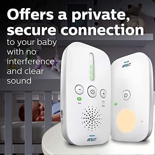 Philips Avent SCD501/00 Audio-Babyphone mit DECT-Technologie, Nachtlicht, Geräuschpegelanzeige,  weiß/blau - 6