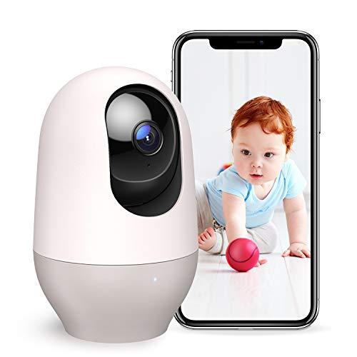 Nooie Babyphone mit Kamera, Haustier WLAN IP Überwachungskamera innen 1080P Kamera, Bewegungs- und Geräuscherkennung Nachtsicht Zwei Wege Audio arbeitet mit Alexa, IOS/Android